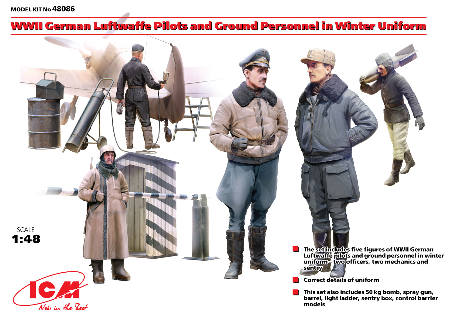 Figures, Kit, 1:48, Pilots and Ground Personal