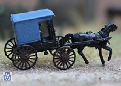 90058 Spur Z Amish Buggy Bausatz Messing