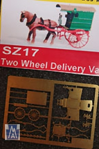 90017 Z 2 Wheel Delivery Van Kit, Brass