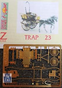 90023 Z Pony & Trap Buggy, Pferdewagen, Bausatz, Messing