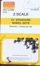 00412000 Z 33 Diameter Standard Wheel Set Black (12) (950)