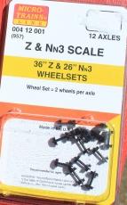 00412001 Z 36 & Nn3 26 Wheel Set Black (12) (957)