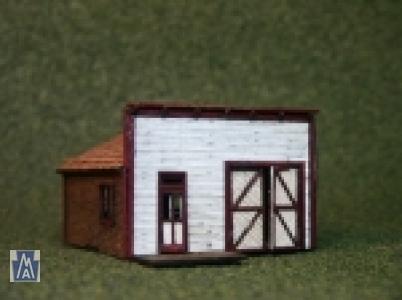 3031 N Scale Main Street Shop Bausatz