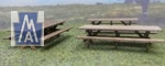 2515 HO Picnic Tables Bausatz