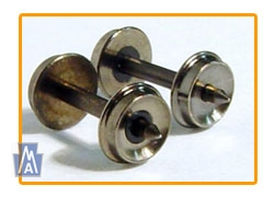 FVM 2802-28  Wheel Sizes - w/553 Axle fits , Räder Spur N - Packung mit 20 Axle BRASS WHEELSETS