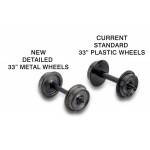 00312020, N Scale, 33 Metal Wheels (12-axle pack) (403)