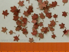 L4-201 Maple, Ahorn - dry leaves, Blätter (red colour) 1:48