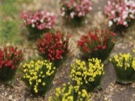 95642 Detachable - Red, Pink, Yellow Flower Bushes