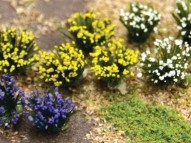 95643 Detachable - Purple, Blue, White Flower Bushes