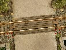 41503 Gleisübergang, Wooden rail crossing 1:120