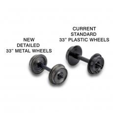 003 12 021 (403-60) , Spur N,  33 Metal Wheels (60-axle pack) (403-60)