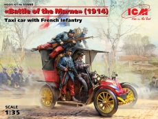35660, ICM: Battle of the Marne(1914),Taxi car wit French Infantry in 1:35 ,3315660,  Bausatz