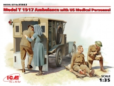 35662, Model T 1917 Ambulance with US Medical Personnel, Bausatz