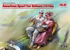 American Sport Car Drivers (1910s), 1 male + 1 female, Bausatz