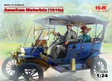 American Motorists (1910 s), 1 male + 1 female, Bausatz, 24013