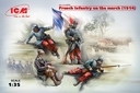 35705, ICM: French Infantry on the march(1914)4Figur in 1:35 [3315705], Kit