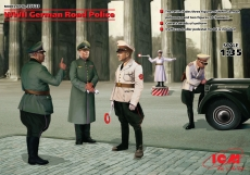 35633 WWII German Road Police (5 figures) in 1:35 [3315633], Bausatz