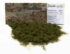 6215 Profiflock grünbraun, 2mm,