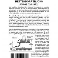 HOn3 005 02 020 (892) Bettendorf Trucks no coupler 1 pr Brown