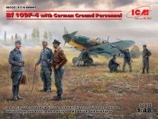 3318805 / 48805 Bf 109F-4 with German Ground Personnel, Bausatz