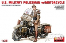 6465168 / 35168 U.S.Millitary Policeman with Motorcycle, Bausatz
