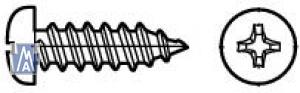 Screw1/ Fillister-head sheet metal screws thread 2.2 x 9.5, St 1
