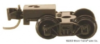 00410001 Einzeln schwarz Arch Bar Trucks short  with coupler