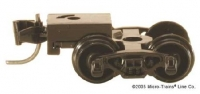 00410021 Bettendorf Trucks black w/ short ext. coupler Einzeln