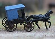 90058 Gauge Z Amish Buggy Kit Brass