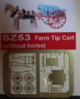 90053 Z Farm Tip Cart, Farmwagen, Bausatz, Messing