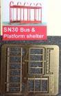 96630 N, Plattform Shelter, Bausatz, Messing
