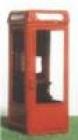 96631 N, Telephone Kiosk K8, Telefonzelle, Bausatz, Kit  Messing