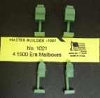HO 1021 Mailboxes (4) Kit