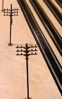 2053 N Telephone Poles Kit Messing