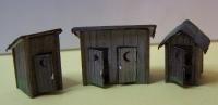 2010 HO Outhouses (3) Kit
