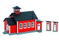NE40034 One Room Schoolhouse with Privies Kit