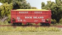 FT 3401 Z Rock Island Offset Woodchip, OPEN 33 OFFSET-SIDE WOODCHIP HOPPERS