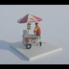 526 N Barts Hot Dog Cart Bausatz