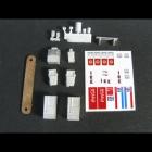 536 N Scale Convenience Store Accessories Bausatz unbemalt