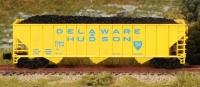 FT 8017-1 D&H Delaware & Hudson RD#1108+1153, OPEN 45 RIB 100-TON 3-BAY HOPPER