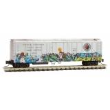 549 44 030 Northern Pacific Christmas graffiti
