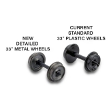 003 12 021 (403-60) , 33 Metal Wheels (60-axle pack) (403-60)