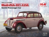 35484, Moskvitch-401-420A, Soviet Passenger Car,, Kit, ICM