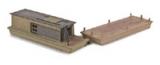 499 90 955 Civil War Era Barge Bausatz