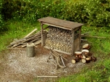 98516 Woodshed with tools Bausatz, HO