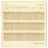PLT-001 Wooden fence, Holzzaun, Kit, 1:120, TT
