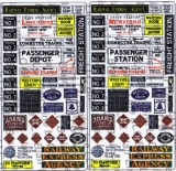 156 HO Signs for Railroad Stations, Schilder