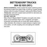 Z 004 20 020 (951) Bettendorf Trucks w/o coupler 1 pr
