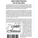 HOn3 005 02 000 ( 890 ) Arch Bar Trucks no coupler 1 pr