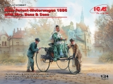 3314041 Benz Patent-Motorwagen 1886 with Mrs. Benz & Sons, Bausatz, ICM